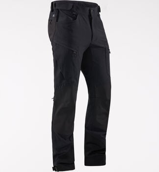 Rugged Mountain Pant Men, True Black Solid Long