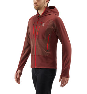 Serac Hood Men, Maroon red/habanero