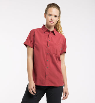 Idun Lite SS Shirt Women, Brick red