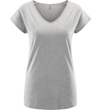 Camp Tee Women, Grey Melange