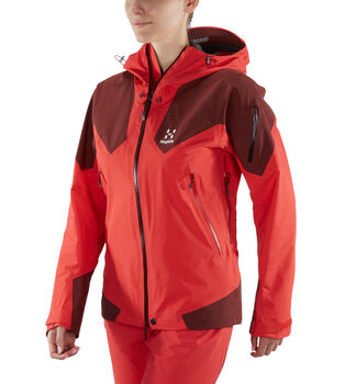 Roc Spire Jacket Women, Hibiscus red/maroon red