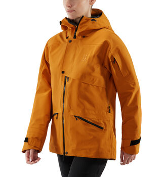 Khione 3L PROOF Jacket Women, Desert Yellow/True Black