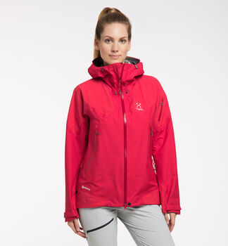 Roc Spire GTX Jacket Women, Scarlet Red