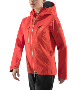 Spitz Jacket Women, Hibiscus red