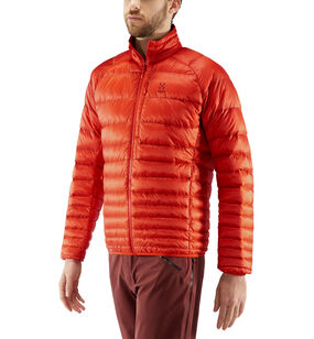 Essens Down Jacket Men, Habanero/maroon red