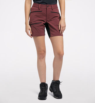 Rugged Flex Shorts Women, Maroon Red/True Black