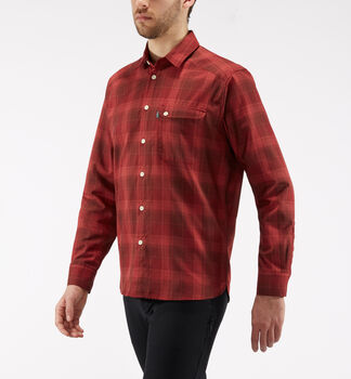 Tarn Flannell Shirt Men, Maroon red/brick red