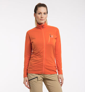 L.I.M Mid Jacket Women, Flame Orange