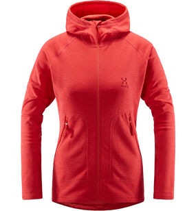 Heron Hood Women, Hibiscus red