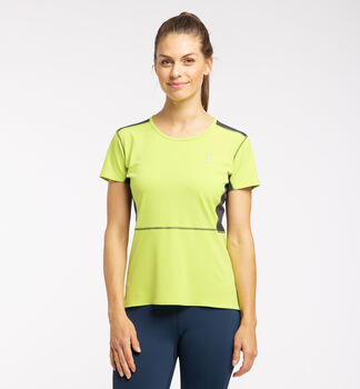 L.I.M Crown Tee Women, Sprout Green/Magnetite