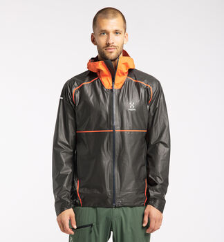 L.I.M Breathe GTX Shakedry Jacket Men, Magnetite/Flame Orange