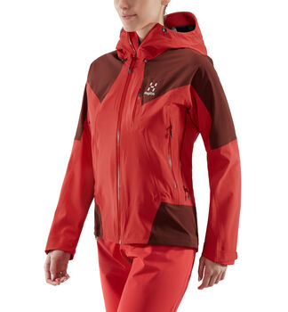 L.I.M Touring PROOF Jacket Women, Hibiscus red/maroon red